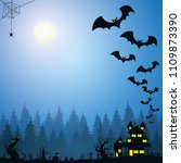 halloween vector illustration   Shutterstock .eps vector #1109873390