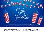 july fourth  usa independence... | Shutterstock .eps vector #1109873750