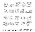 marketing and business set...   Shutterstock .eps vector #1109875556