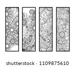set of four bookmarks in black... | Shutterstock .eps vector #1109875610