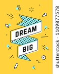 dream big. vintage ribbon... | Shutterstock .eps vector #1109877578