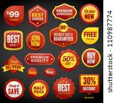 Set of vector badges and stickers | Shutterstock vector #110987774