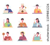 various career and hobby life... | Shutterstock .eps vector #1109881226