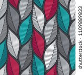 stylized colorful leaves... | Shutterstock .eps vector #1109889833