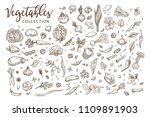 healthy organic vegetables... | Shutterstock .eps vector #1109891903