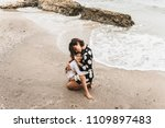mother and daughter holding...   Shutterstock . vector #1109897483