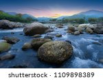 landscape of small river and... | Shutterstock . vector #1109898389