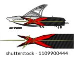 boat decal graphic vector for...   Shutterstock .eps vector #1109900444