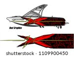 boat decal graphic vector for...   Shutterstock .eps vector #1109900450