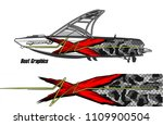 boat decal graphic vector for...   Shutterstock .eps vector #1109900504