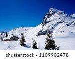 snow mountain landscape sun at... | Shutterstock . vector #1109902478