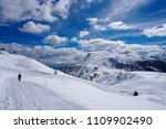 snow mountain landscape sun at... | Shutterstock . vector #1109902490