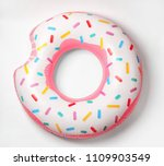 Bright inflatable donut on...