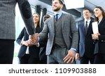 business people shaking hands ... | Shutterstock . vector #1109903888