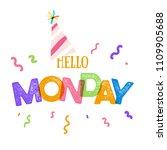 hello monday  typography... | Shutterstock .eps vector #1109905688