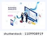 investment and virtual finance. ... | Shutterstock .eps vector #1109908919