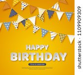 happy birthday greeting design. ... | Shutterstock .eps vector #1109909309