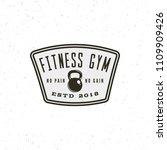 vintage fitness gym logo. retro ... | Shutterstock .eps vector #1109909426