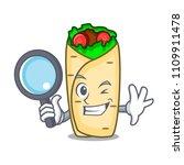 detective burrito character... | Shutterstock .eps vector #1109911478