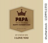 happy father s day calligraphy... | Shutterstock .eps vector #1109911553
