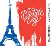 happy bastille day  14th of... | Shutterstock .eps vector #1109911844