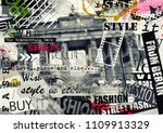 berlin  germany. vintage... | Shutterstock . vector #1109913329