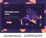 modern flat design isometric... | Shutterstock .eps vector #1109916149