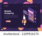modern flat design isometric... | Shutterstock .eps vector #1109916173