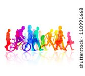 various modern people    vector ... | Shutterstock .eps vector #110991668
