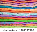 Colourful Ethnic Scarves In A...