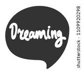 dreaming. sticker for social... | Shutterstock .eps vector #1109920298