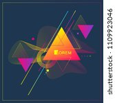 modern abstract triangle... | Shutterstock .eps vector #1109923046