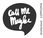 call me maybe. sticker for... | Shutterstock .eps vector #1109923934