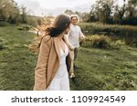 a beautiful couple in free...   Shutterstock . vector #1109924549