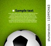 soccer ball on the field. cover ...   Shutterstock .eps vector #110992463