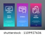 digital library  tutorials ... | Shutterstock .eps vector #1109927636