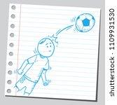 soccer player hitting soccer... | Shutterstock .eps vector #1109931530