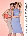 two beautiful sexy woman pretty ... | Shutterstock . vector #1109936468