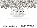 cocoa bean tree banner template.... | Shutterstock .eps vector #1109937506