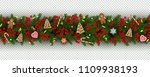 christmas and new year border... | Shutterstock .eps vector #1109938193