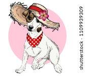 vector portrait of jack russel... | Shutterstock .eps vector #1109939309