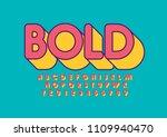 vector of stylized bold font... | Shutterstock .eps vector #1109940470