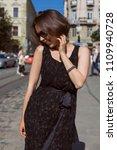 elegant smiling woman wearing...   Shutterstock . vector #1109940728