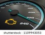 engine check light on car... | Shutterstock . vector #1109943053