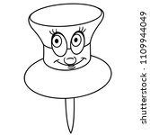 coloring page. coloring book.... | Shutterstock .eps vector #1109944049