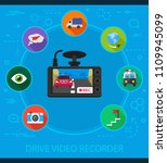 drive video recorder flat icons ... | Shutterstock .eps vector #1109945099