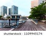 tennoz of sidewalk along the...   Shutterstock . vector #1109945174