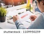 hands of businessman holding... | Shutterstock . vector #1109950259