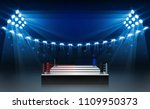 boxing ring arena and... | Shutterstock .eps vector #1109950373