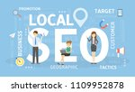 local seo concept illustration. ... | Shutterstock .eps vector #1109952878